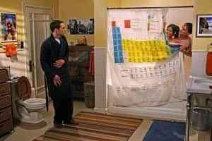 La cortina de ducha de Big Bang Theory 1