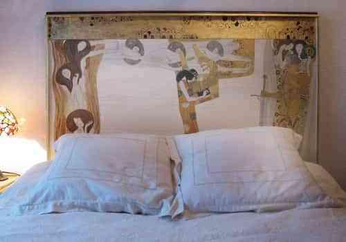 Cabecero de cama decorativo gustav klimt decoraci n de interiores opendeco - Cabeceros de cama originales pintados ...