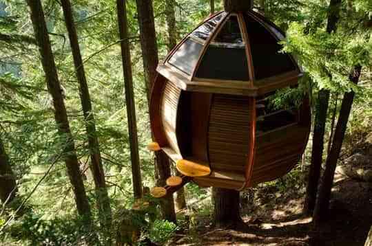 Una casa en el árbol con mucho estilo 1