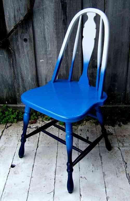 Un toque original: degradado en una silla 1