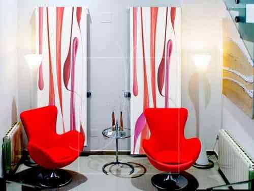 Utiliza los estores para decorar tus paredes 1
