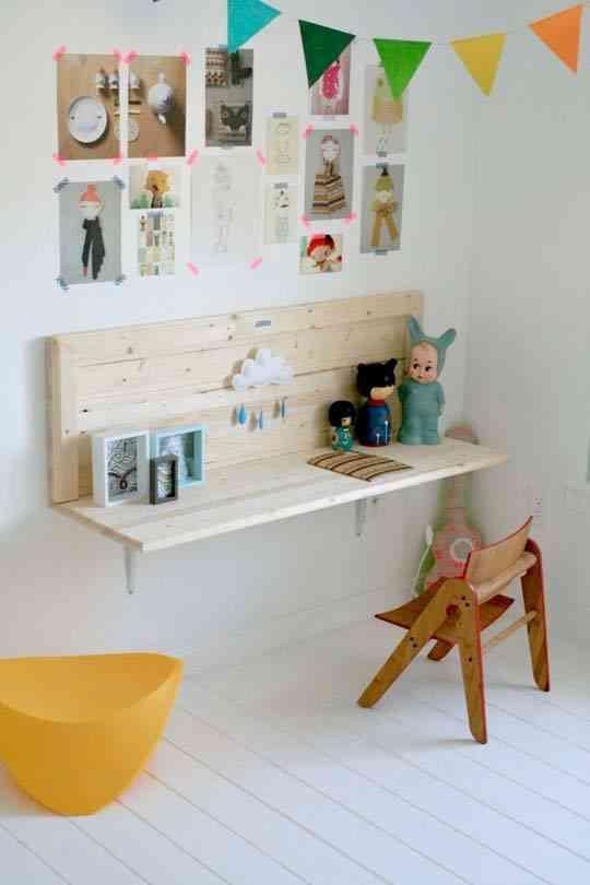 Diy una mesa para los ni os en madera decoraci n de - Mesas madera ninos ...