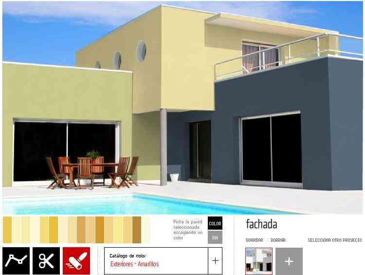 Simulador de pintura no te arriesgues decoraci n de for Colores de pintura exterior de casas
