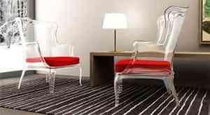 Muebles transparentes: amplitud y diseño 1