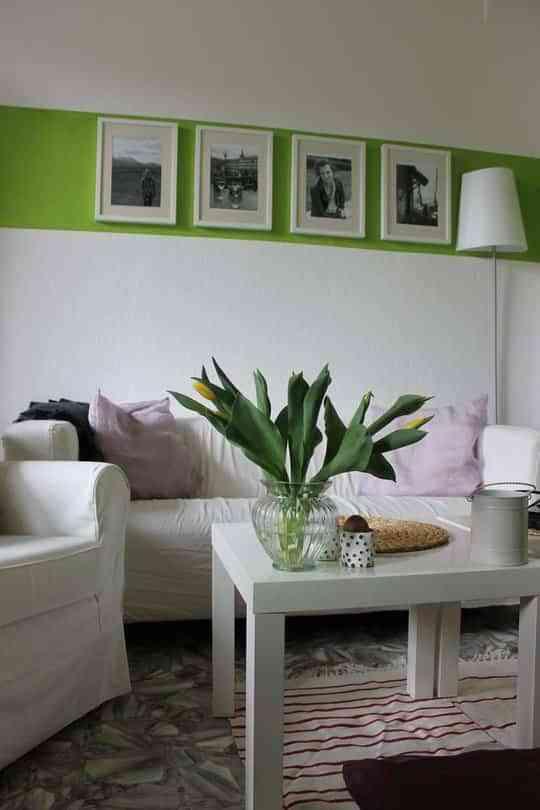 Una franja en verde para decorar 1