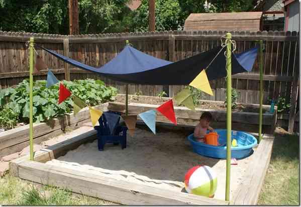 Beach Themed Backyard Designs : Ideas para exteriores con ni?os un arenero  Decoraci?n de