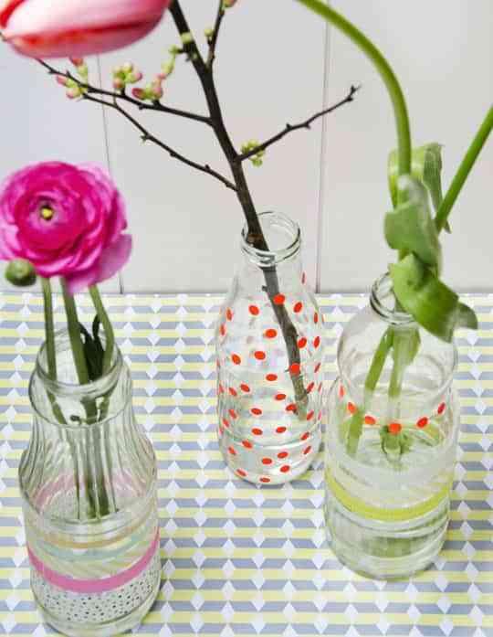 DIY: originales jarrones primaverales 1