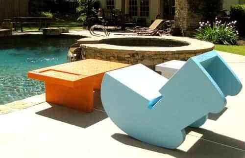 Muebles de piscina que flotan - Decoración de Interiores   Opendeco