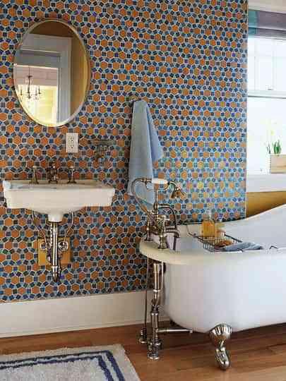Ideas para llenar de color el baño 5