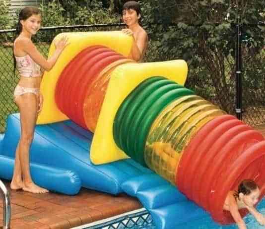 tobogán para piscinas