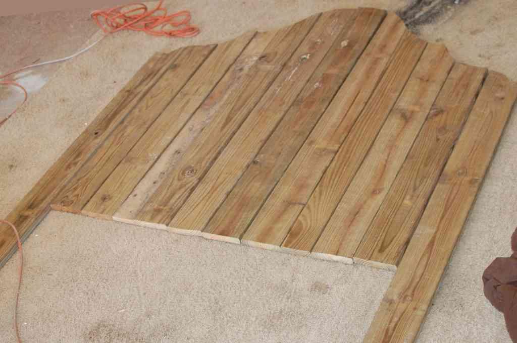 Diy cabecero en madera blog totpint portal de - Cabecero tablas madera ...