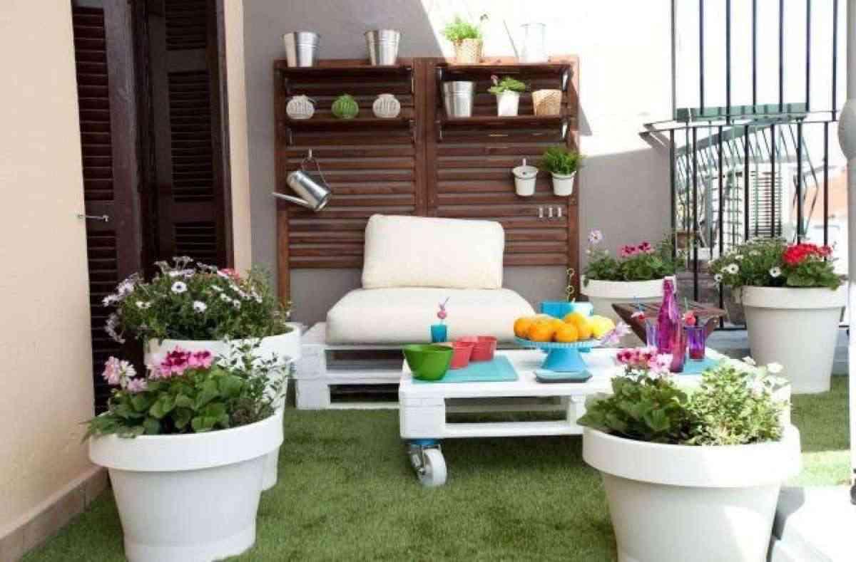 decorar la terraza con palets - Terraza Con Palets