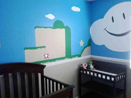 Habitación infantil inspirada en Mario Bros - Decoración ...