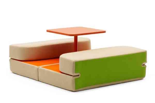 Mesa, cama y asientos, todo en uno - Decoración de Interiores   Opendeco