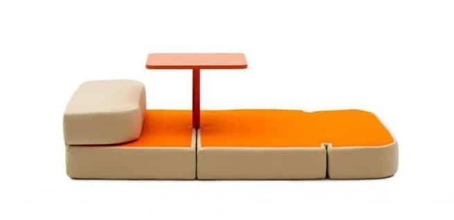 Mesa, cama y asientos, todo en uno 2
