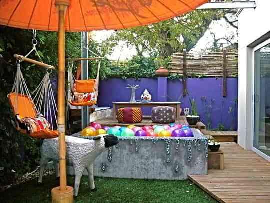 Explosi n de color en la terraza de tu casa decoraci n - Pintura para terrazas ...