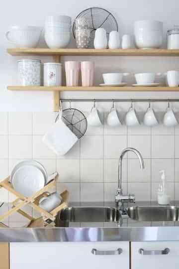 En la cocina, blanco y rosa 1