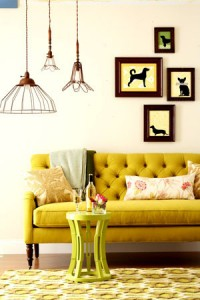 decoracion en amarillo