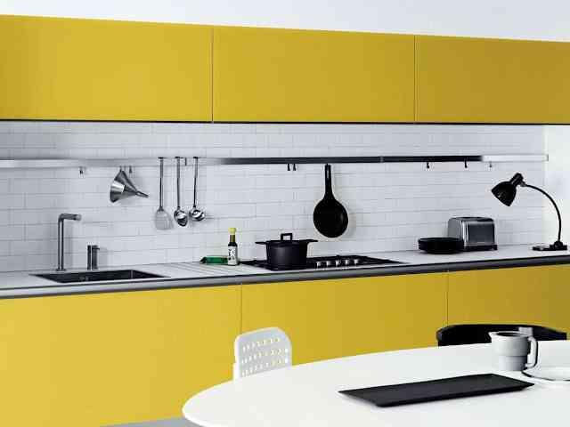 Lujoso El Color De Los Gabinetes De Cocina En Las Tendencias ...