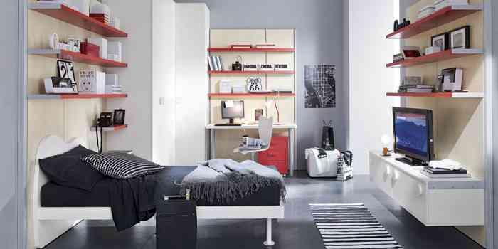 Dormitorios infantiles con modulares decoraci n de for Dormitorios modulares matrimoniales