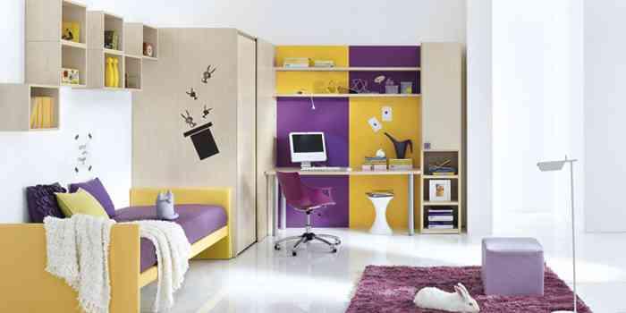Dormitorios infantiles con modulares decoraci n de - Dormitorios con poco espacio ...