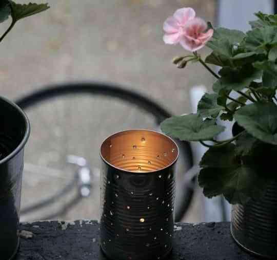 DIY: original lámpara con una lata 1