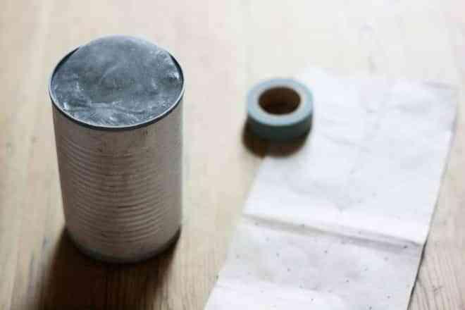 DIY: original lámpara con una lata 3