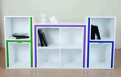 Mesa de comedor y estantería en uno: ahorra espacio en el salón 6