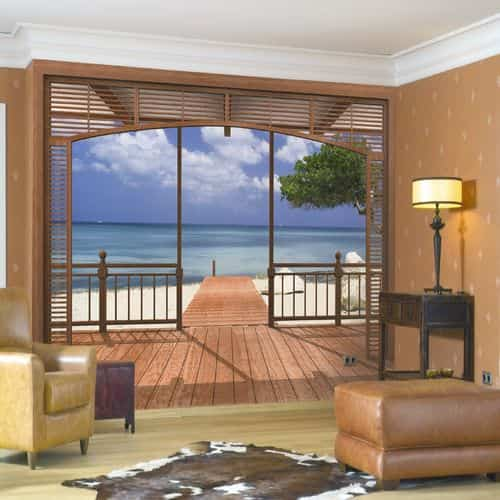 Fotomurales para decorar habitaciones decoraci n de for Fotomurales pared paisajes