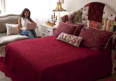 Cabecero de patchwork decoraci n de interiores opendeco - Cabeceros originales manualidades ...