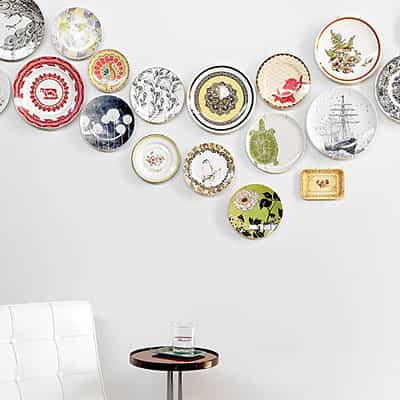decorar una pared con platos