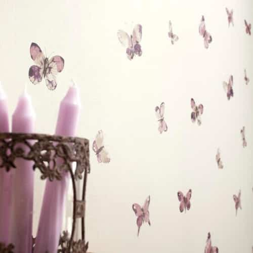 decorar_pared_con_papel_pintado_mariposas