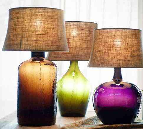 L mparas de mesa en vidrio blog totpint portal de - Como hacer una lampara de mesa ...