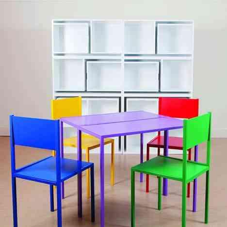 Mesa de comedor y estantería en uno: ahorra espacio en el salón 4