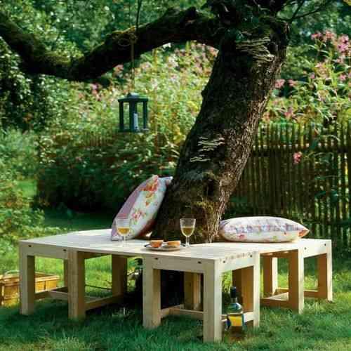 Un banco muy original para el rbol de tu jard n for Arboles aromaticos para jardin