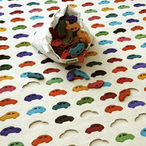 Alfombras puzzles para tu cuarto infantil decoraci n de - Alfombras divertidas ...