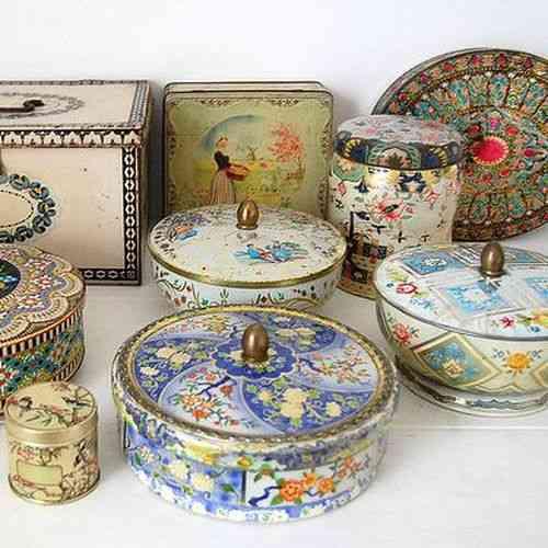 Venta De Objetos De Decoracion Vintage ~   antiguas en forma de bomboneras, carameleras y para guardar galletas