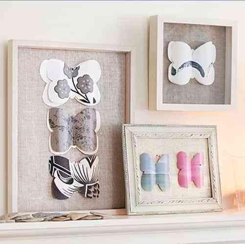 Colecciones de mariposas de papel para decorar