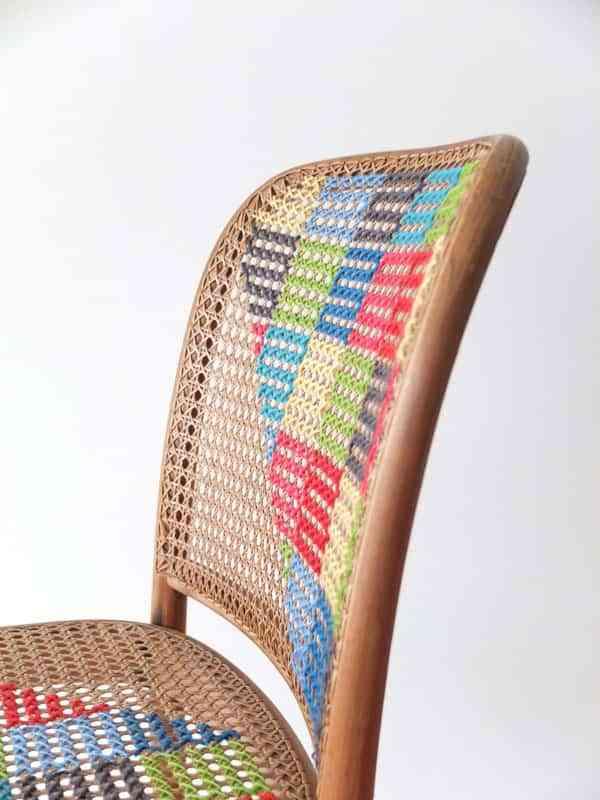 Decorar una silla con ganchillo 2