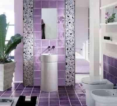 decorar pared con azulejo y piedras
