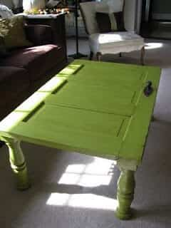 mesa reciclada madera