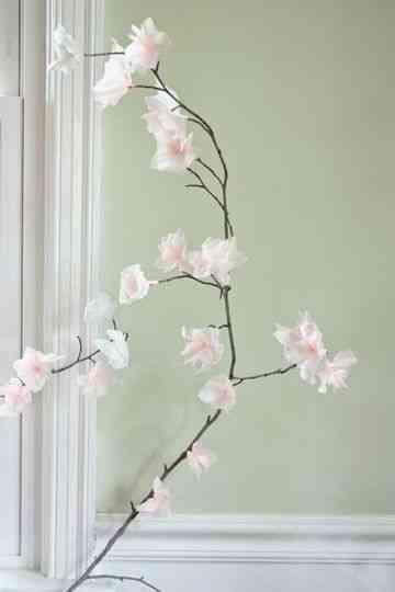 Diy ramas y flores de papel decoraci n de interiores - Papel pintado ramas arbol ...