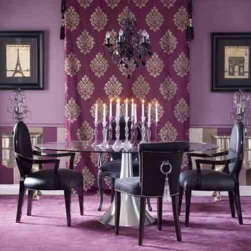decorar la pared con cortina