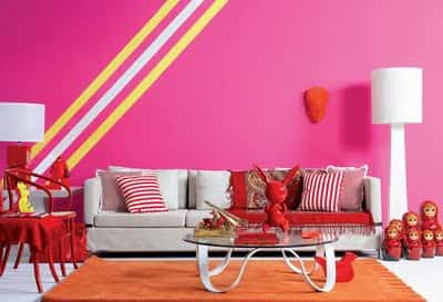 decorar pared con franjas