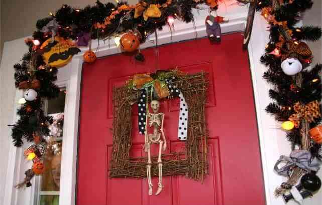 decorar puerta halloween