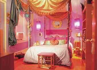 Decoración de dormitorio estilo harén