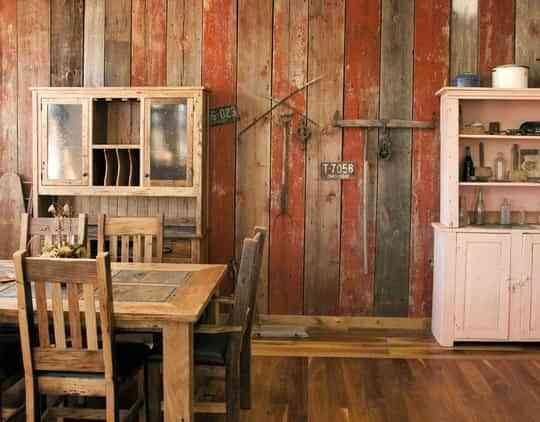 Paredes forradas en madera de colores - Decoración de Interiores ...