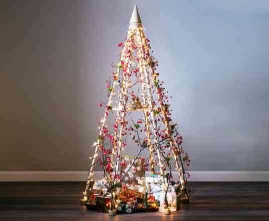 DIY: árbol de Navidad con luces 1