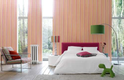 decorar con rayas dormitorio