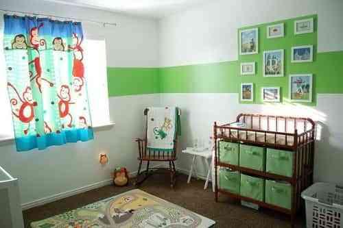 dormitorios bebe en verde